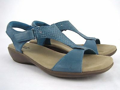 CLARKS Collection Women's Blue Strappy Slingback Sandals Size 8.5 M