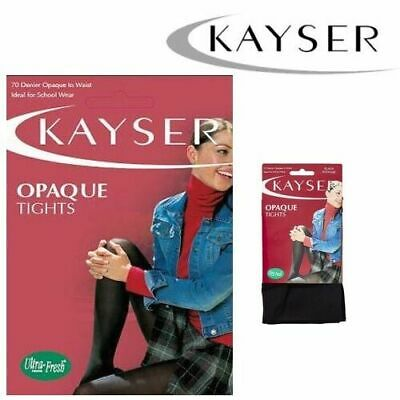 WOMENS KAYSER OPAQUE TIGHTS 70 DENIER School Stockings Black Navy Beige Winter