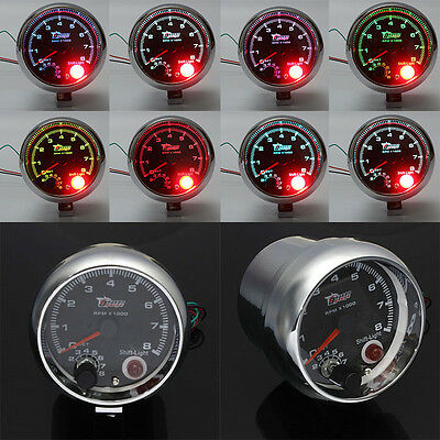 "New 12V Universal 3.75"" Car Tachometer Tacho Gauge With Shift Light 0-8000RPM"
