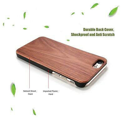 Natural Wooden Wood Case Cover Shell for iPhone Xs 7 6 Plus Samsung S7 S6 S8 S9