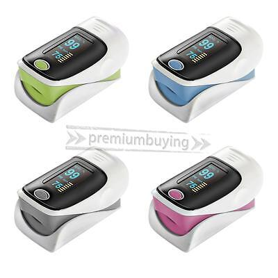 Pink OLED Blood Oxygen Finger Pulse Heart Rate Oximeter Oxymeter SPO2 PR Monitor