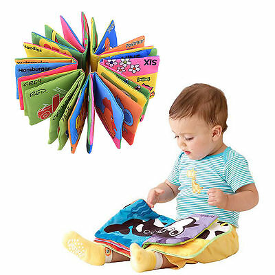 Kids Baby Educational Intelligence Development Soft Cloth Cognize Book Toy US