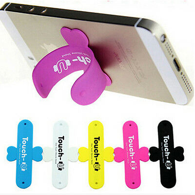 NEW Silicone Mini Cellphone U Shaped Stand Holder For iPhone Samsung