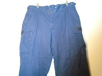 Us Coast Guard Blue Operational Uniform Cargo Pants Size Large Regular X-10