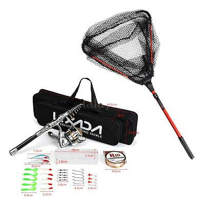 Fishing Rod and Spinning Reel Combo Portable Telescopic Fishing Rod & Reel I6N6