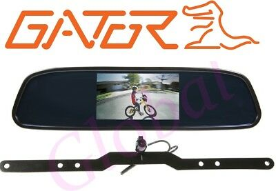 "Gator GRV43M CAR 4.3"" Mirror Reverse Camera Wired Clip on Reversing System *RFB*"