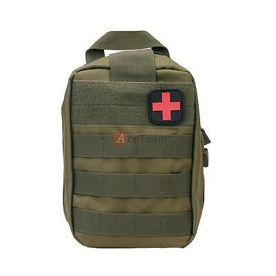 TACTICAL MILITARY FIRST Aid Kit Bag Emergency Medical Survival Rescue Army  Green