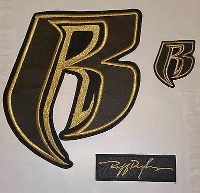 Ruff Ryder 100% LEATHER Applique/Patch Set of 3 - FREE Shipping