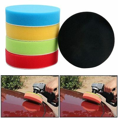 "5Pcs 3/4/5/6/7"" Tool Polish Kit Car Polisher Pad Polishing Foam Buffing Sponge"