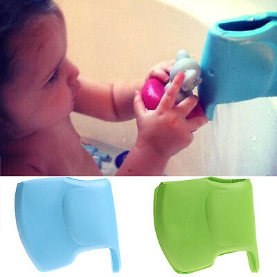 Kids Baby Bath Tub Safety Spout Cover Elephant Pattern Water Faucet Protect Toy
