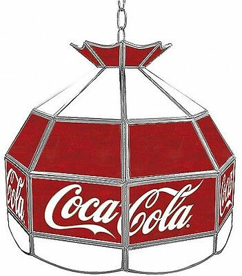 Trademark Global Coca Cola Vintage 16' Stained Glass Tiffany Lamp Light Fixture