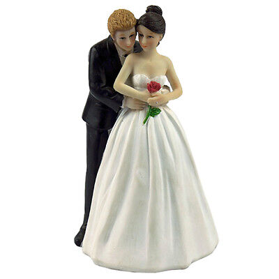 """SY """"Yes to the Rose"""" Wedding Cake Decoration Custom Bride & Groom Couple Figurin"""
