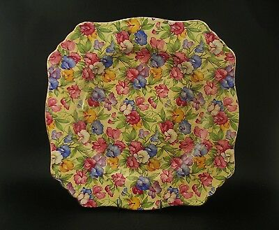 Royal Winton Sweet Pea Chintz Vintage Ascot Luncheon Cake Plate England c1930s