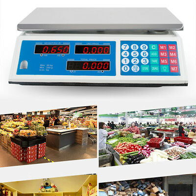 US Scale 60-Pound 30Kg Digital Price Food Meat Cafeteria Candy Restaurant Market