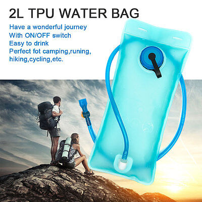 2L Hydration Water Bladder Bag Backpack Drinking Camel bak Pack Camping Hiking