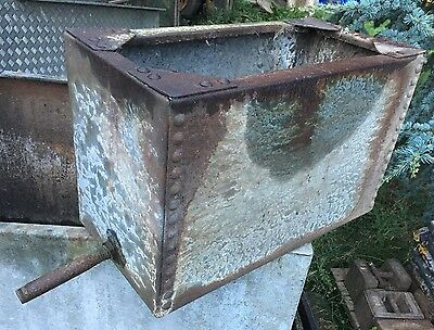 Studded Galvanised Water Trough Garden Planter Tank Fish Rustic Sink  Vintage