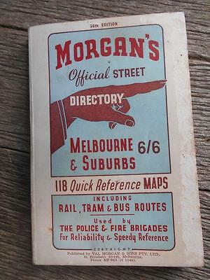C1940's Morgan's Official Street Directory Melbourne & Suburbs 36th edition auto