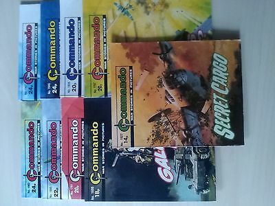 commando comics; 9x issues