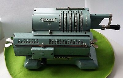 Mechanical Calculator FELIX-M Arithmometer Vintage USSR Adding Machine 1970