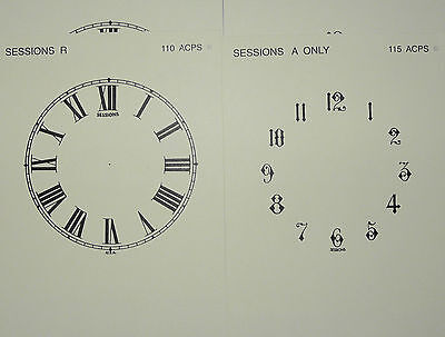 Antique Clock Parts - 4 Dials for American Sessions Clocks - New Reproductions