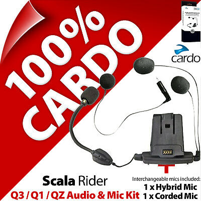 Cardo Scala Rider Audio & Mic Accessory Kit Q3 Q1 QZ Motorcycle Helmet Intercom