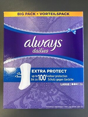 Always Dailies Pantyliners Extra Protect - Large 52s X 2.