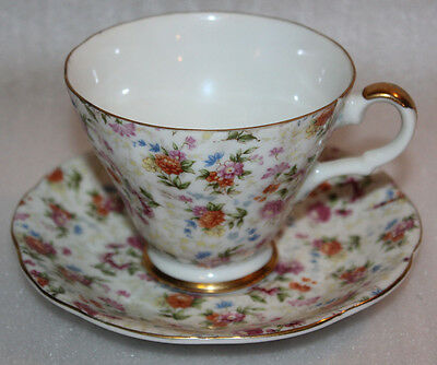Beautiful Vintage Floral Lefton China Hand Painted Tea Cup & Saucer Set 2119