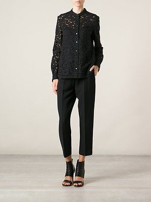 Joseph Lance Black Lace Long Blouse Shirt New FR36/UK8-10