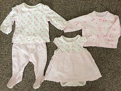 Mothercare Baby Girl Bundle. Size New Baby. Worn Once.