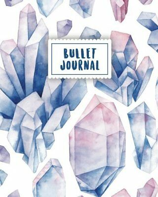 Bullet Journal: Blue Gemstone Waterc by Masterpiece Notebooks New Paperback Book