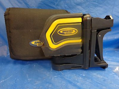 Spectra Precision Lt20 Self Leveling Cross Line Laser Level Tool!