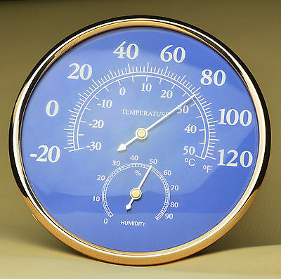 Large Style Thermometer Hygrometer Temperature Humidity Sensor Meter Gauge #515