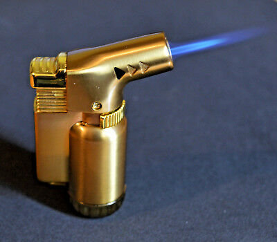 Butane Jet Lighter Torch Lighter Gasoline Fire Windproof Gun Metal Lighter #10