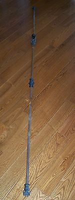 RARE Antique Iron FRENCH WINDOW Hardware handle and locking rods Excellent Cond.