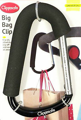 ClippaSafe New Strong Hold Stroller Pram Buggy Big Bag Clip Hook Hand Savers