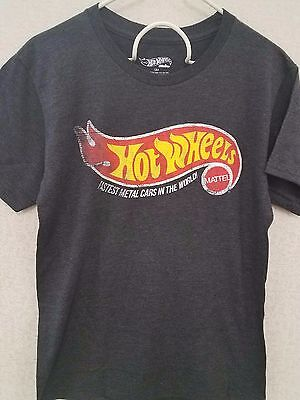 Hot Wheels Logo - Graphic Cotton T Shirt Short Sleeve, Men's Size Small