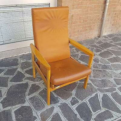 Big Reclining And Adjustable Armchair For Interior And Exterior From 1970