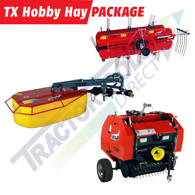 TX Hobby Hay Package: BELLONMIT Drum Mower+MOLON Belt Rake+IBEX Round Baler