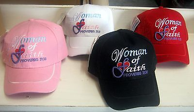 LOT of 12 -  Woman of Faith  Proverbs 31:30 Cap Caps Hats