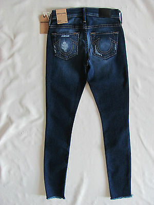 True Religion Halle Super Skinny Jeans -Metal Studs-Sterling Blue- Size 23- $239