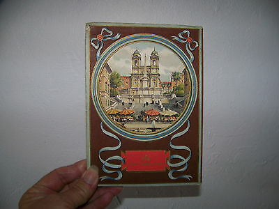 Vintage Book of (20) Fold Out Postcards Roma Artistica Rome Italy Hard Cover