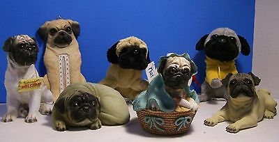 For All You Pug Dog Lovers!! Cutest Collection Of Pugs! Resin, Plush & Ornament
