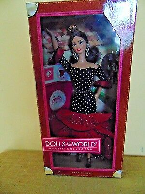 SPAIN 2012 Barbie Doll Pink Label Passport Dolls of the World DRESS SHOES
