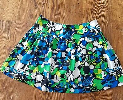 Kenneth Cole New York Women's Floral Multi-Colored Skirt Size 8 (F7)