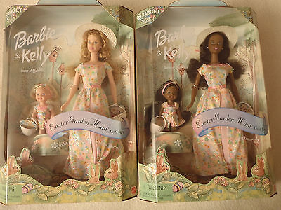 Special Edition Easter Garden Hunt Barbie Kelly Doll Giftset Lot Set of 2 NRFB