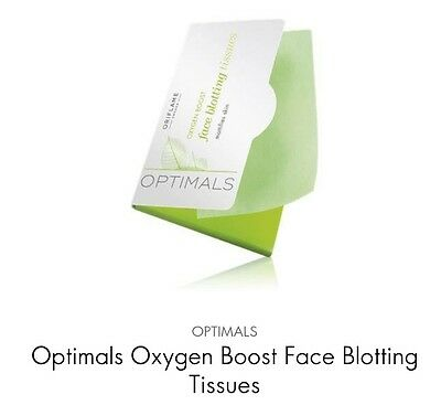 Oriflame Optimals Oxygen Boost Face Blotting Tissues(remove excess oil) 50pieces
