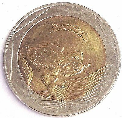 "2016 Colombia 500 Pesos Bi-Metallic - Glass Frog coin ""Rana da Cristal"""