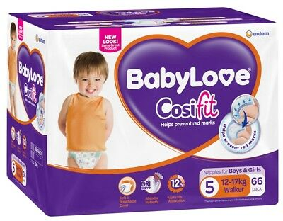 Baby Love Nappies Walker Jumbo - 66 Pack