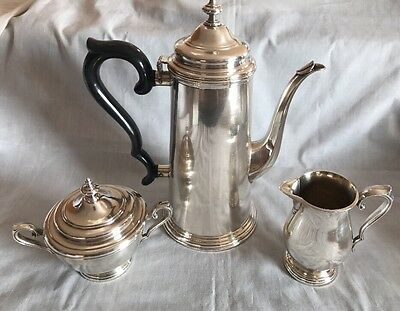 Websters & Wilcox international silver co. 3 Pieces Coffee Set Silverware Plated