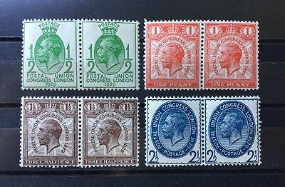 ASstamps Great Britain 1929 King George V Pairs Set MNH SC#205-208